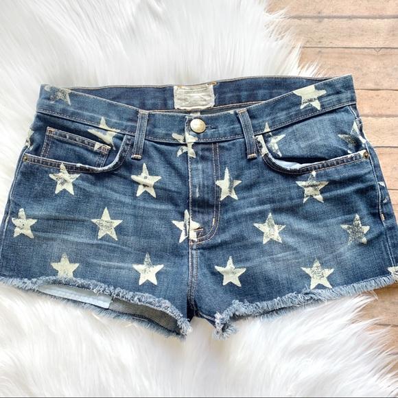 4bdad81dc16 Current/Elliott Pants - Current Elliott | the boyfriend star print shorts